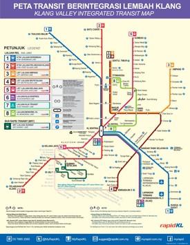 Kuala Lumpur transport map