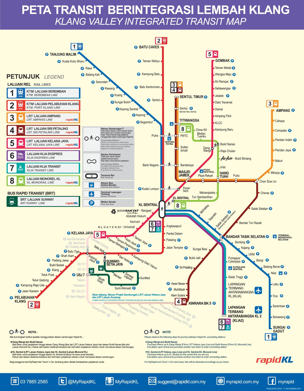Kuala Lumpur Transport Map - kuala lumpur map