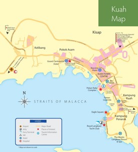Kuah tourist map