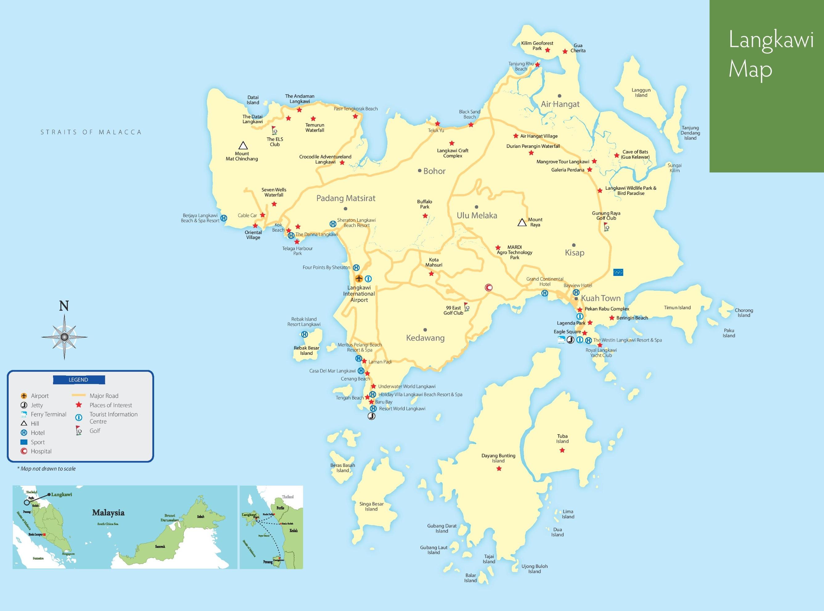 Map Of Malaysia And Langkawi Langkawi Maps | Malaysia | Maps of Langkawi Island