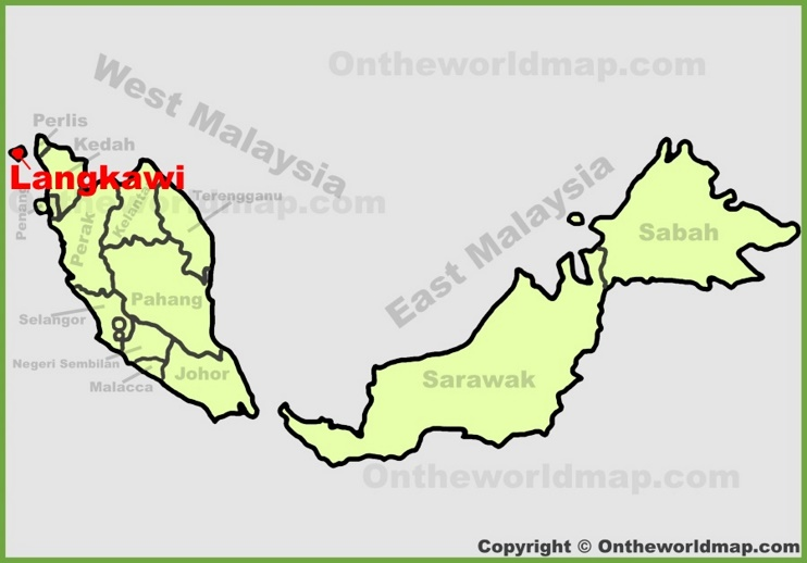 Langkawi location on the Malaysia map
