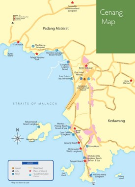 Pantai Cenang tourist map