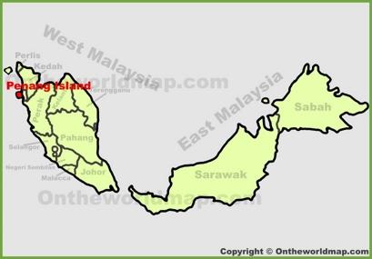 Penang Location Map