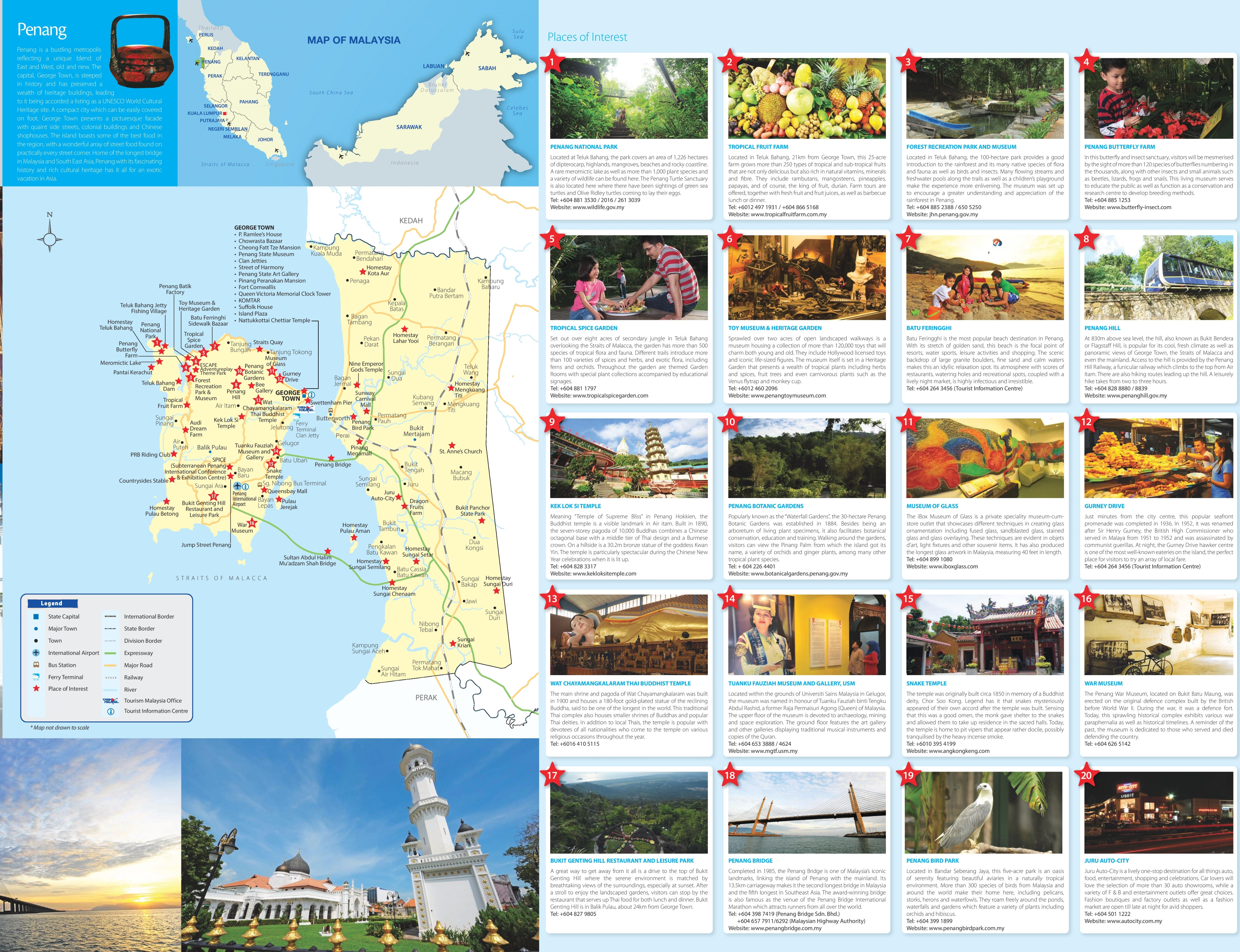Penang tourist map