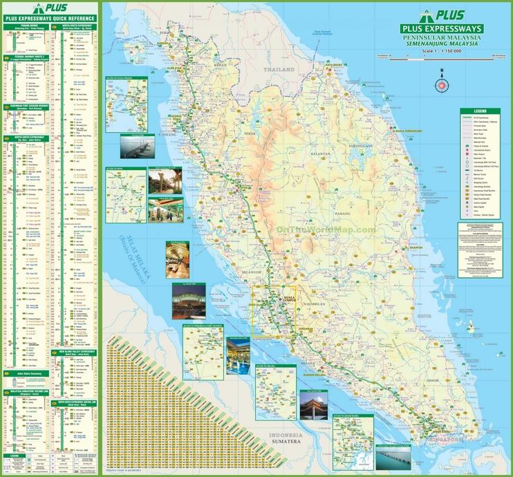 Malaysia On World Map Map: Malaysia Road Map
