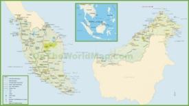Malaysia tourist map