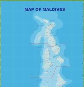 Administrative divisions map of Maldives