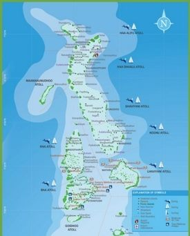 Maldives Hotel And Resort Map