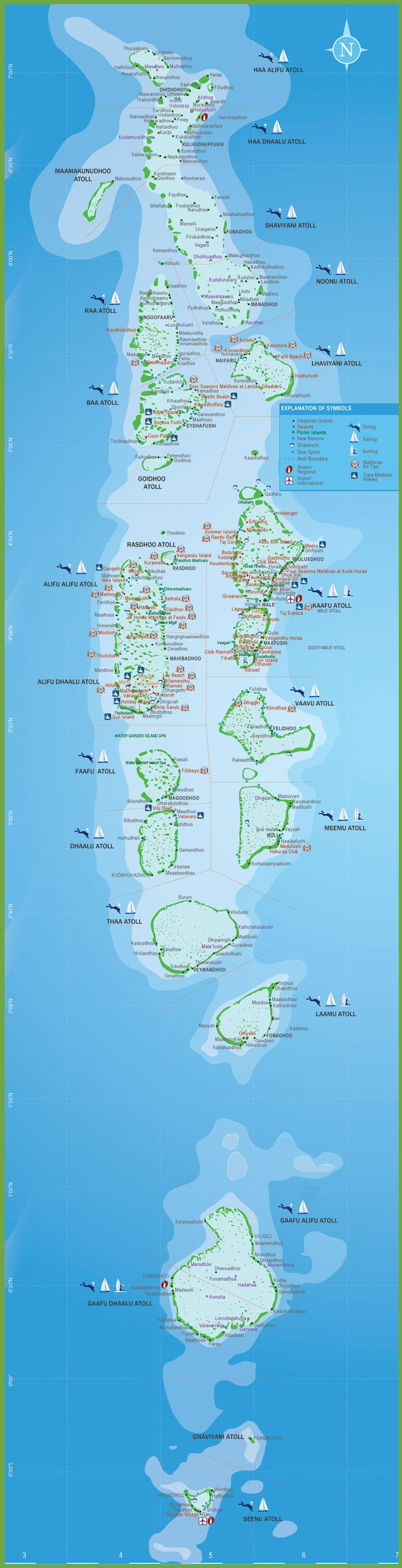Maldives Hotel Map Maldives hotel a...
