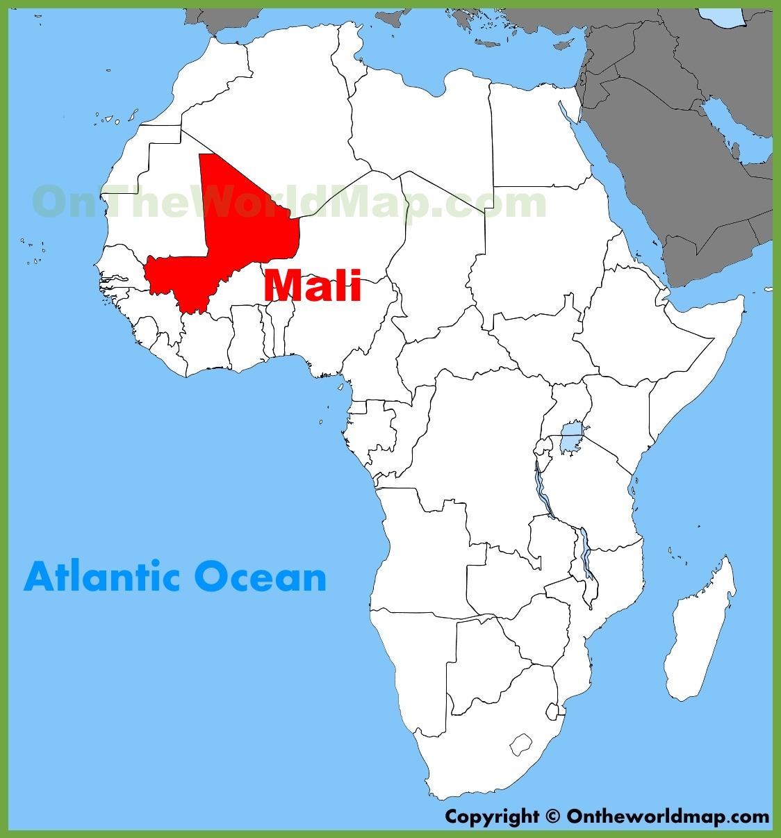 Mali Map Africa Mali location on the Africa map