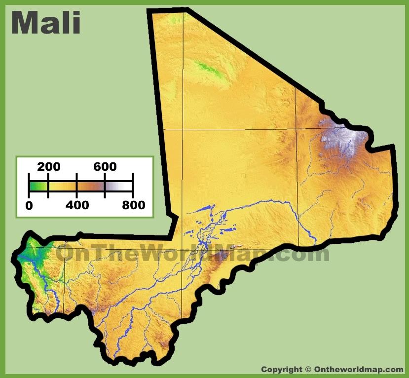 Mali Maps Maps of Mali