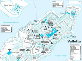 Valletta Sightseeing Map