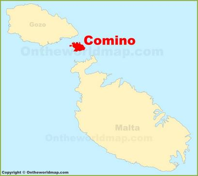 Comino Location Map