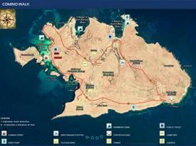 Comino Walk Map