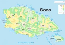 Detailed Map of Gozo