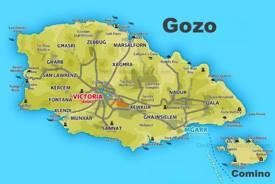 Gozo Tourist Map