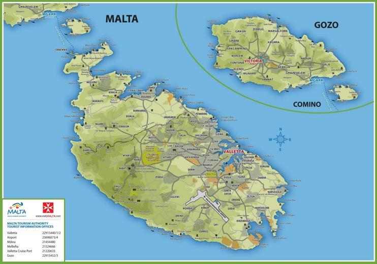 Malta Maps Maps of Malta