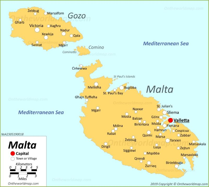 Malta Maps | Maps of Malta