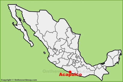Acapulco Location Map