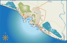Acapulco tourist attractions map
