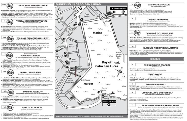 Cabo San Lucas shopping map