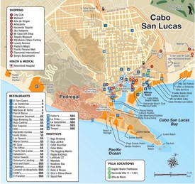 Cabo San Lucas tourist attractions map