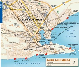 Cabo San Lucas tourist map
