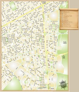 Cancún downtown map