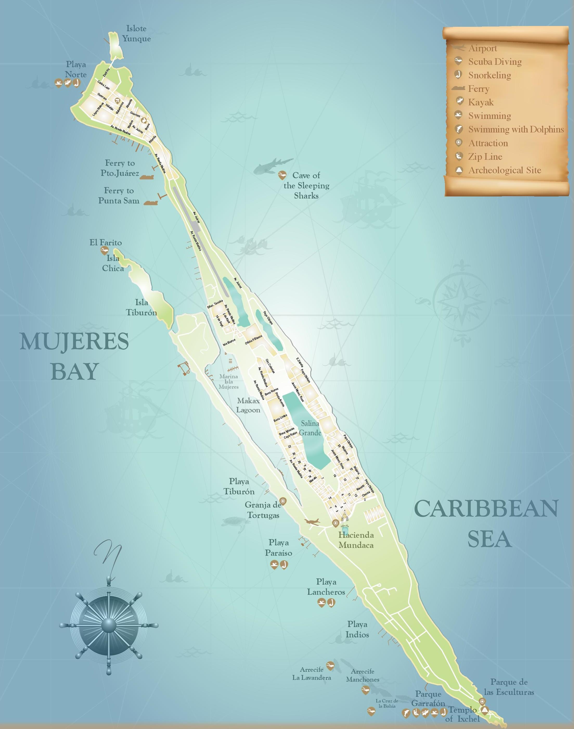 Isla Mujeres map
