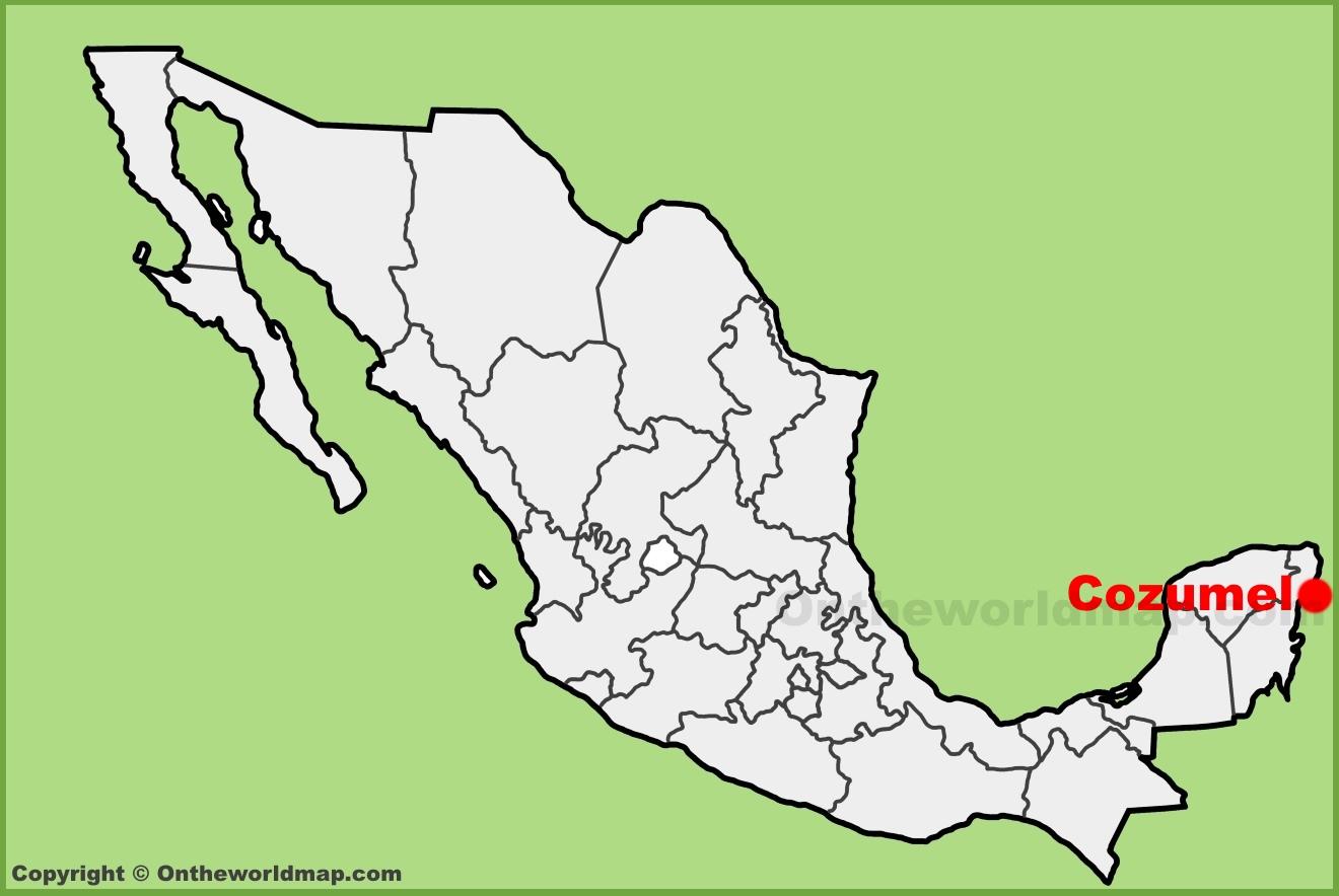 Cozumel Maps | Mexico | Maps of Cozumel