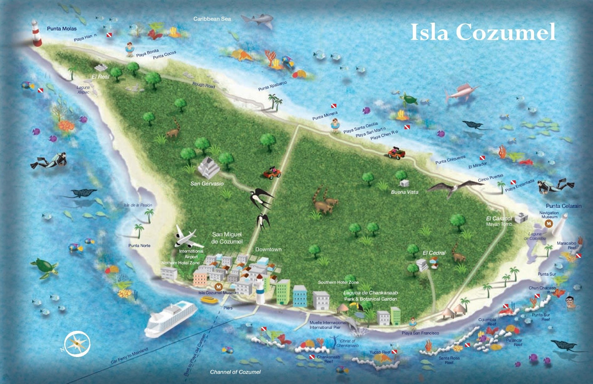 cozumel tourist map