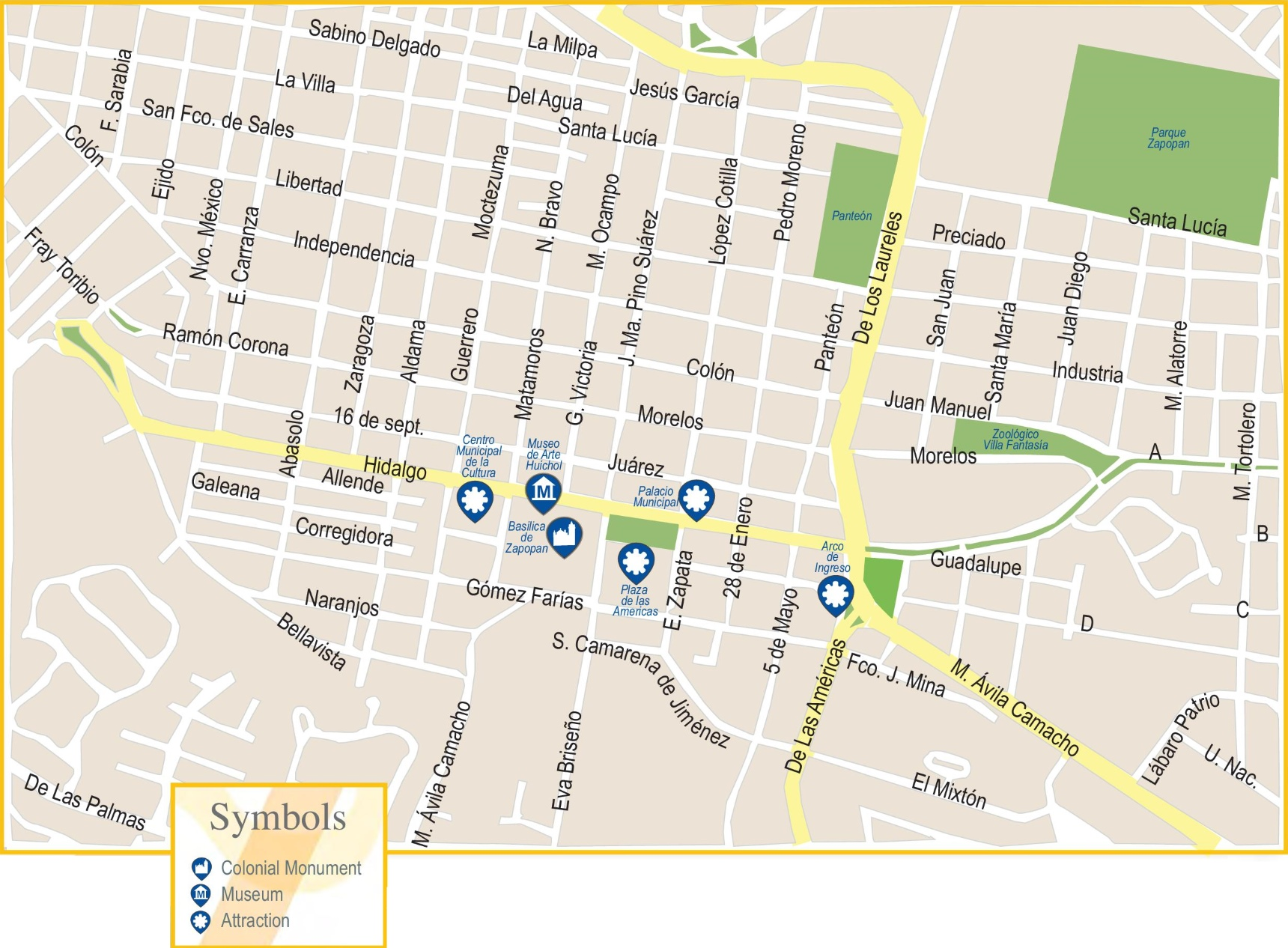 Zapopan map Guadalajara