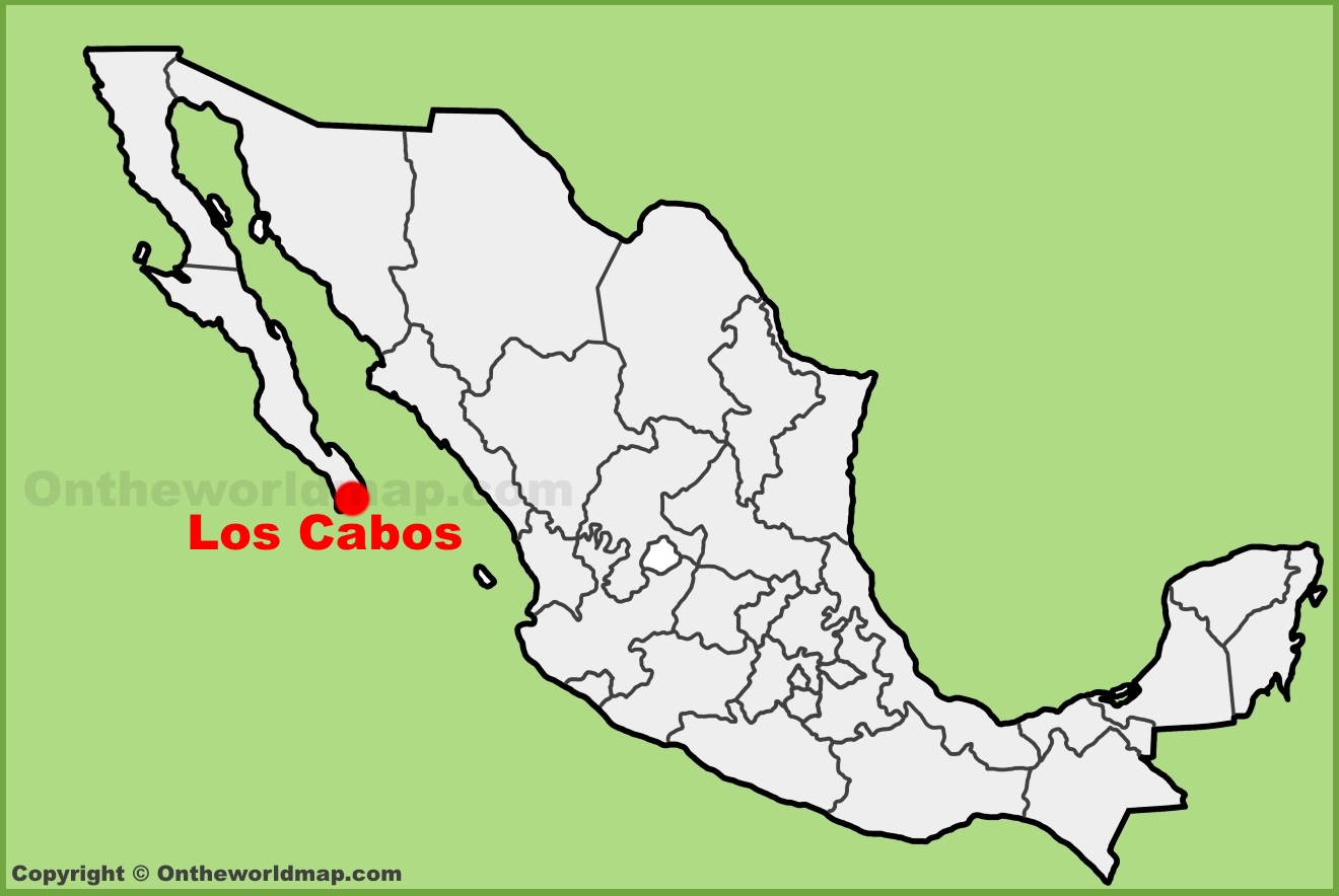 Los Cabos location on the Mexico map