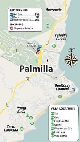 Palmilla map