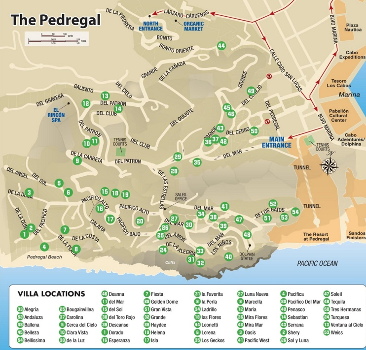 Pedregal Villas map