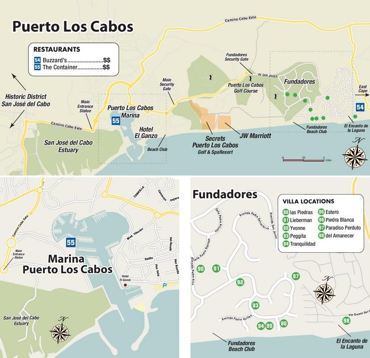 Puerto Los Cabos map