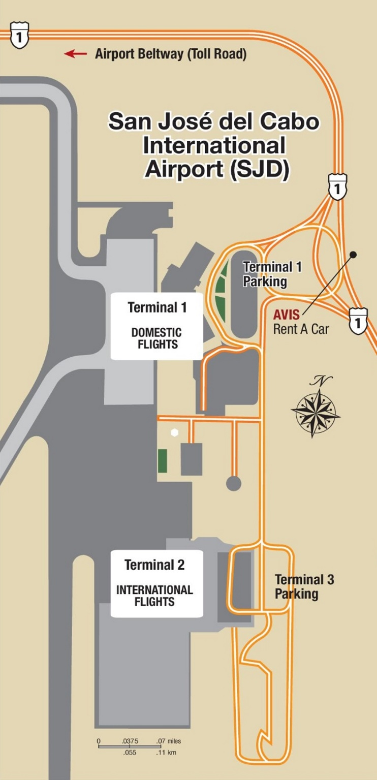 Los Cabos International Airport map