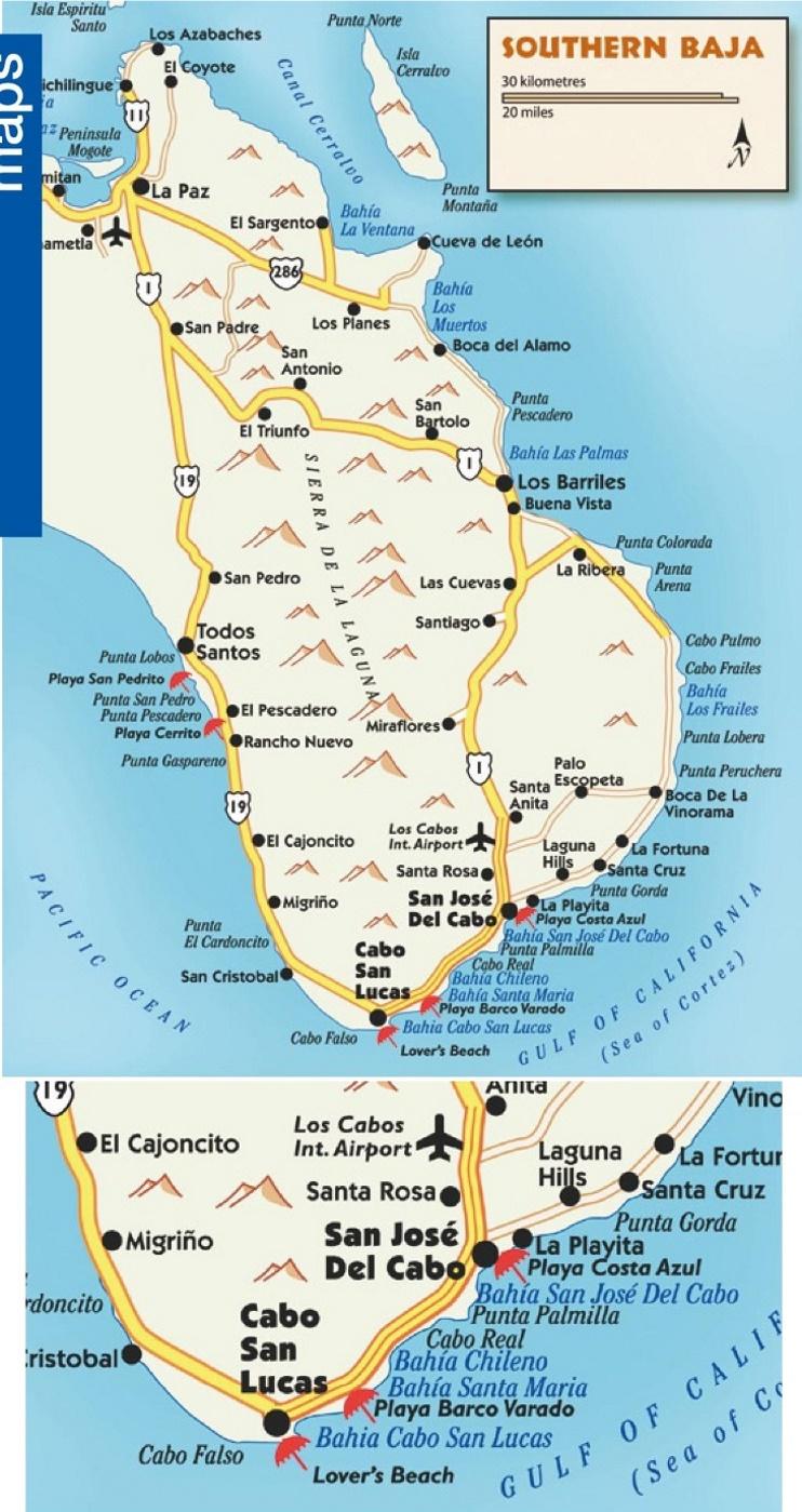 Southern Baja Map