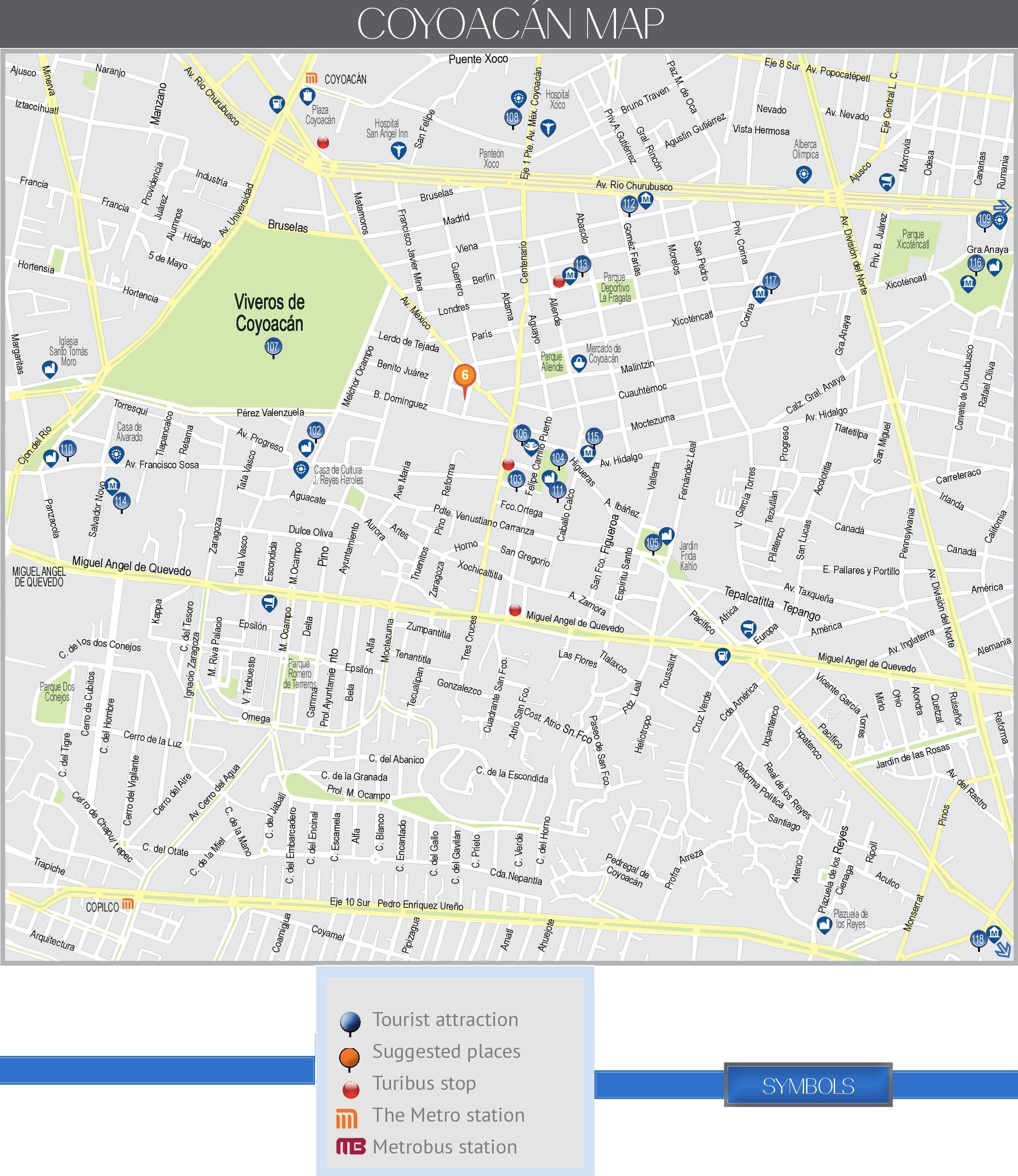 coyoacan map