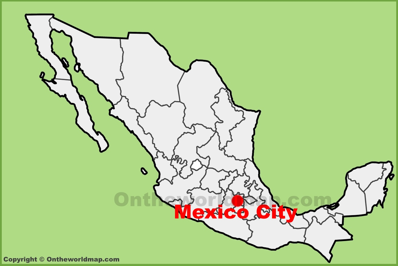 full size mexico city location map