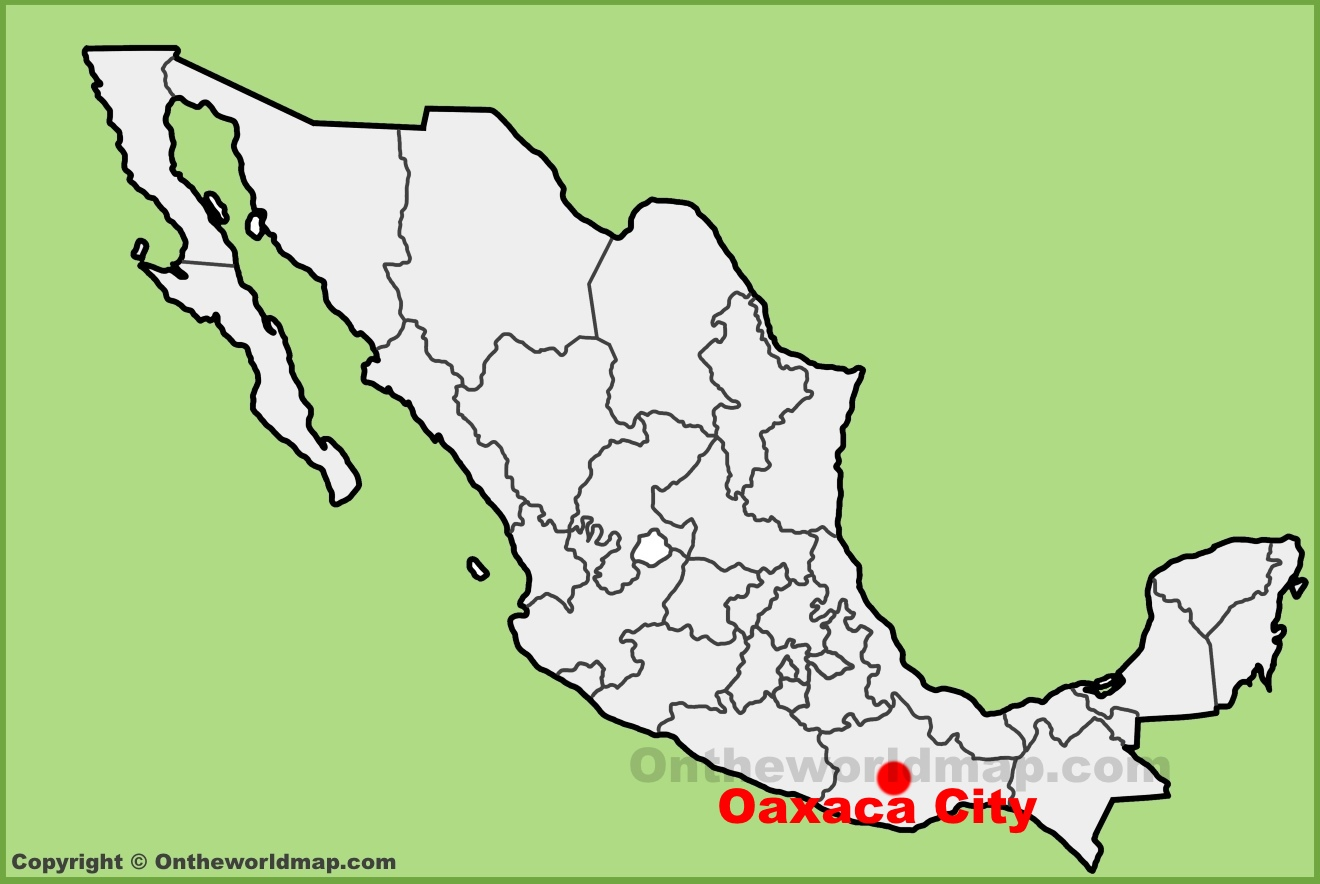 Guajaca Mexico Map.Oaxaca City Maps Mexico Maps Of Oaxaca De Juarez
