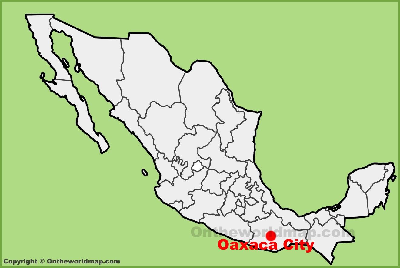 full size oaxaca city location map