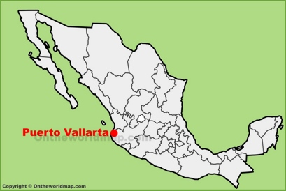 Puerto Vallarta Location Map