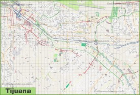 Large detailed map of Tijuana