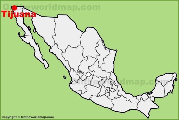Tijuana location on the Mexico map