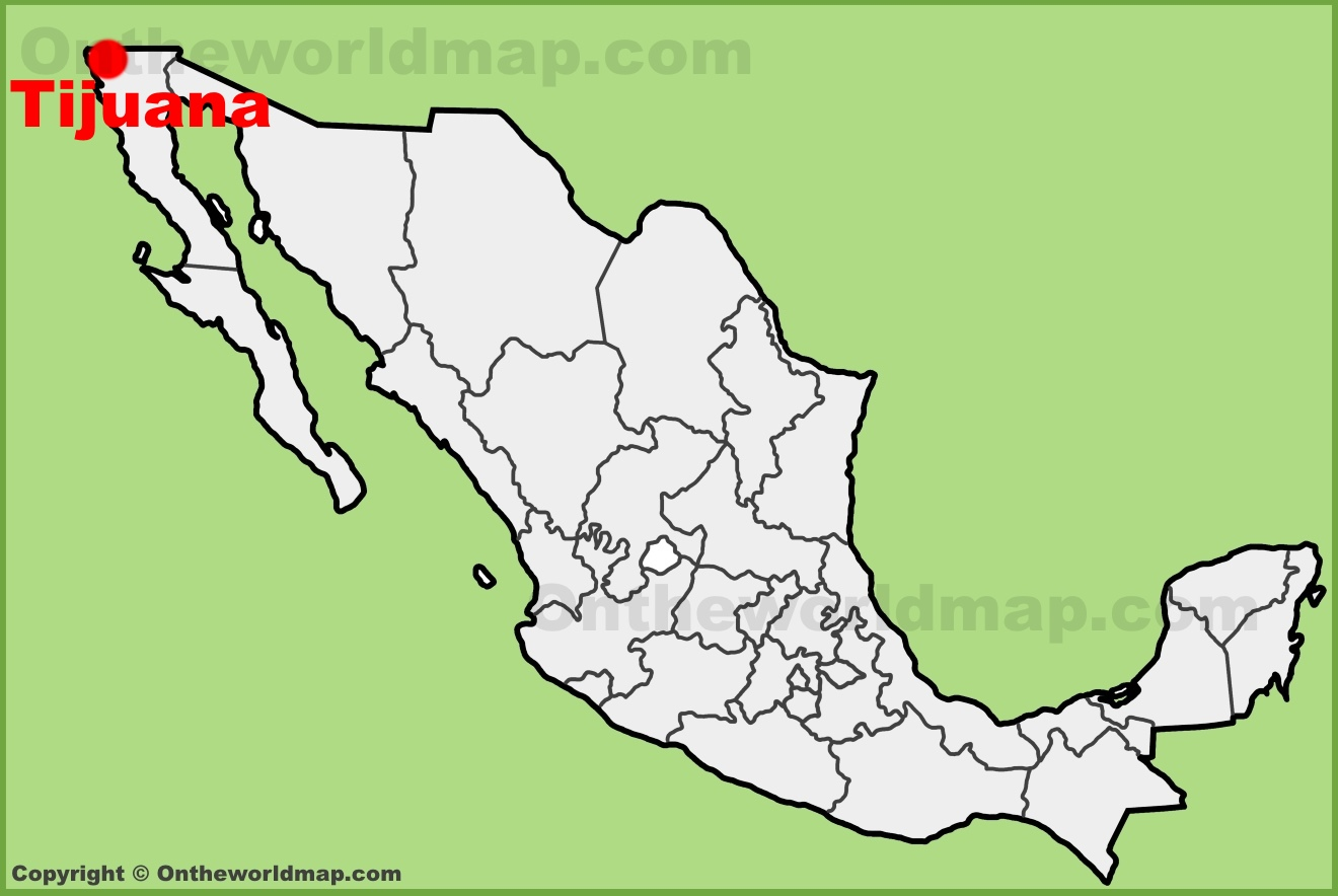Tijuana location on the Mexico map