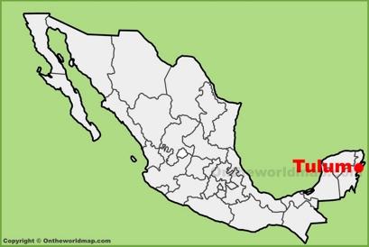 Tulum Location Map