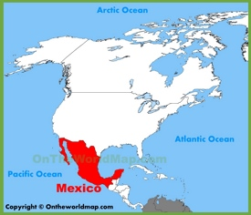 Mexico location on the North America map