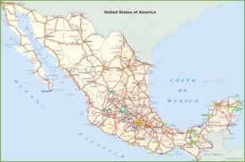 Mexico road and highways map