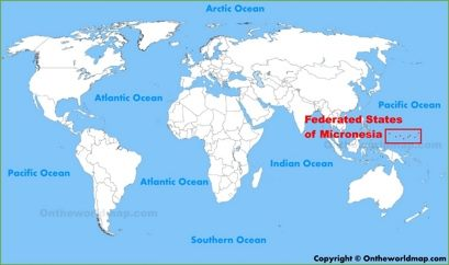 Federated States of Micronesia Location Map